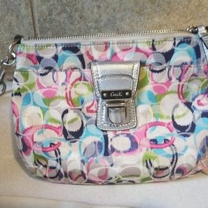 Coach Multi Color Poppy Cross Body Messenger Bag
